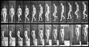 Woman Walking Downstairs aus The Human Figure in Motion. Eadweard Mybridge 1887.